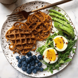 Sweet Potato Waffles | Whole-30, Paleo, GF
