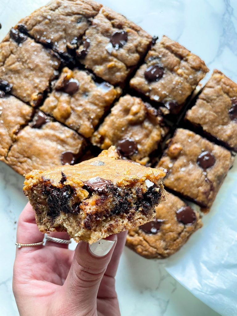 Healthy Banana Bread Bars with Chocolate Chips (Dairy Free, GF)
